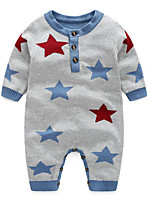 Baby Casual/Daily Galaxy Clothing Set-Cotton-Fall-Gray