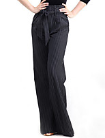Latin Dance Bottoms Performance Cotton Sash/Ribbon 1 Piece Pants