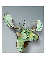 noël décoration tête bois de cerf