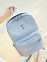 Casual Backpack Women Canvas Pink Blue Gray Black