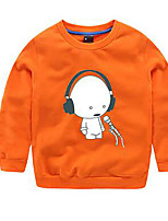 Boy's Casual/Daily Solid Hoodie & SweatshirtCotton Spring / Fall Black / Orange / Pink / Red / White / Yellow / Gray