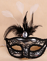 1PC Feather Mask Lace For Halloween Costume Party Random Color