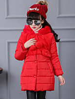 Girl's Casual/Daily Solid Down & Cotton Padded,Polyester Winter Black / Red