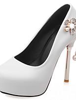 Черный / Красный / Белый-Женский-Свадьба / Для праздника / Для вечеринки / ужина-Дерматин-На шпильке-На платформе / Оригинальная обувь-