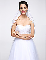 Wedding Veil One-tier Elbow Veils Lace Applique Edge Net White
