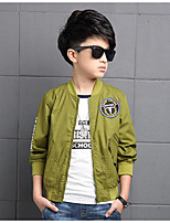 Boy's Casual/Daily Solid Suit & Blazer,Polyester Spring / Fall Green / Orange