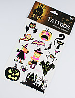3 pièces de halloween décorations noctulescents tatouage autocollants