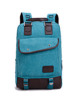 Unisex Cowhide / Canvas / Cotton Casual / Outdoor Backpack Blue / Brown / Red / Black