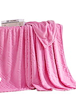 Coral fleece Pink,Solid Solid 100% Polyester Blankets 200x230cm