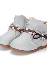 Girl's Boots Winter Fashion Boots / Comfort Leatherette / Casual Flat HeelBowknot / Others /
