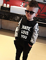 Boy's Casual/Daily Print Clothing Set,Cotton Fall Black
