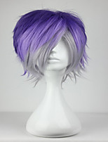 Fashion Synthetic 32cm Men Hairstyle Diabolik Lovers Kanato Sakamaki Blue MIx Grey Cosplay Wig