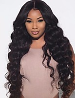 cheveux humains 8 à 22 pouces brazilian vague lâche perruques 4,5 partie profonde dentelle glueless devant perruques pour les femmes
