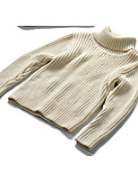 Girl's Casual/Daily Solid Sweater & CardiganCotton Winter / Fall Purple / Beige / Gray