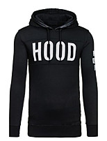 Men's Casual/Daily Sports Simple Street chic Hoodie Solid Micro-elastic Cotton Long Sleeve Fall Winter