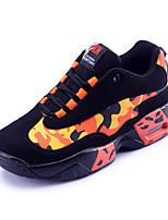 Women's Sneakers Spring / Fall Comfort PU Athletic Flat Heel Lace-up Yellow / Orange Sneaker
