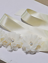 Satin Wedding / Party/ Evening / Dailywear Sash-Sequins / Floral Women's 98 in(250cm) Sequins / Floral
