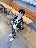 Girl's Casual/Daily Striped Blouse / Clothing SetCotton Spring / Fall Black