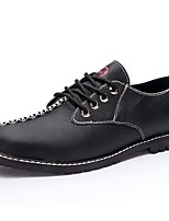 Men's Oxfords Spring Summer Fall Winter Comfort Cowhide Outdoor Office & Career Casual Flat Heel Lace-up Black Brown Yellow Others