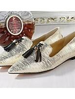 Серебристый / Золотистый-Женский-На каждый день-Свиная кожа-На низком каблуке-Удобная обувь-Мокасины и Свитер