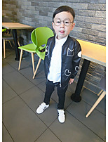 Boy's Casual/Daily Print Jacket & CoatPolyester Winter Black
