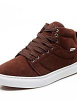Черный Коричневый Красный Серый Хаки-Мужской-Повседневный-Ткань-На плоской подошве-Удобная обувь-Кеды