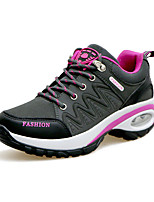Women's Sneakers Spring / Fall Comfort PU Athletic Flat Heel Lace-up Purple / Red / Gray Sneaker