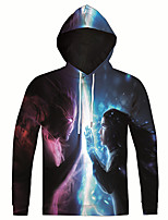 New Fashion Casual Cartoon Ice and Fire Print Men 3d Hoodie Long Sleeve Men Hooded Pullover Sweatshirts