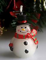 Рождественский шрам снеговик сочельник свеча 5см