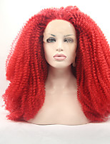 Sylvia Synthetic Lace front Wig Red Hair Heat Resistant Long Kinky Curly Synthetic Wigs