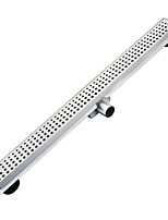 600mm Stainless Steel 304 Linear Shower Drain with Surrounding Tile Flange Waste Channel with Side Outlet