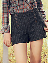 Pantalon Aux femmes Short Chic de Rue Polyester Non Elastique