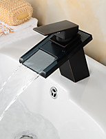 Sink Faucets , Contemporary with Chrome Single Handle One Hole , Feature for Waterfall / Centerset