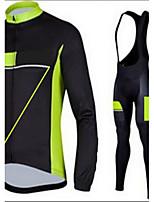 Sportif Veste avec Pantalon de Cyclisme Homme Manches longues VéloRespirable / Séchage rapide / Design Anatomique / Zip frontal / La peau