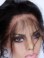 360 Лобовой Естественные кудри Человеческие волосы закрытие Умеренно-коричневый Французское кружево 75g-95g грамм Средние Размер крышки