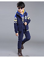 Boy's Casual/Daily Print Clothing SetCotton / Rayon Winter / Spring / Fall Blue / Red