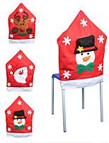 3db divat Télapu sapka piros sapka bútor szék hátlap karácsonyi asztalnál fél karácsony új év dekoráció