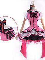 Inspirovaný Love Live Honoka Kōsaka Anime Cosplay kostýmy Cosplay šaty / Šaty Patchwork Růžová Krátké rukávyK šatům / Vlasové ozdoby /