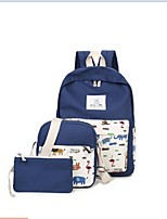 Women Canvas Casual Bag Sets White / Pink / Purple / Blue / Green