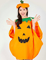 Men And Women Cosplay Festivals Party Orange Pumpkin Printing Clothes Cloak Hat  Suits