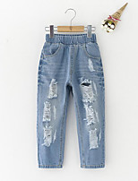 Girl's Casual/Daily Solid PantsCotton Spring / Fall Blue
