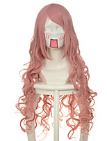 100cm Vocaloid Series Luka Lacus Pink Curly Halloween Wigs Synthetic Wigs Costume Wigs