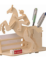 Jigsaw Puzzles Wooden Puzzles Building Blocks DIY Toys Carriage / Horse 1 Wood Ivory Model & Building Toy