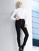 De las mujeres Pantalones Ajustado-Simple Microelástico-Rayón / Poliéster / Licra