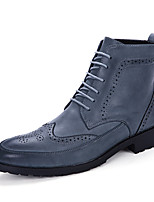 Men's Boots Fall Winter Others Microfibre Casual Flat Heel Lace-up Black Blue Brown Others