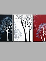 Handpainted Abstract Oil Painting Black White Red Tree Landscape Home Decor Stretchered Frame