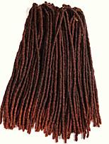 Havanna / Gehäkelt Dread Locks Haarverlängerungen 18Inch Kanekalon 20 Strand 90g Gramm Haar Borten