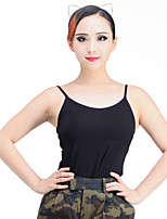 Latin Dance Tops Training Modal 1 Piece Sleeveless Top