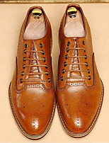 Men's Oxfords Comfort Cowhide Casual Black Brown