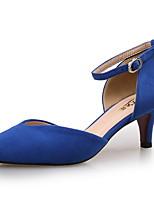 Damen-High Heels-Hochzeit / Kleid / Party & Festivität-Lackleder-Stöckelabsatz-Komfort-Schwarz / Blau / Mandelfarben